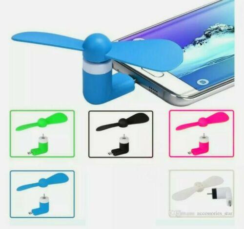 5x USB Electric Fan Mini For Android Samsung Galaxy Google Micro USB Fan Portabl