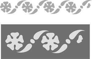 Schablone-Dekorschablone-Wandschablone-Malerschablone-Stencils-Bluetenfries