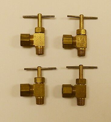 Brass Angled Needle Valve 1//8 x 5//16 in.