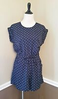 Modcloth Romper Xs Navy Blue W White Anchors Nautical Retro Brave Soul $49