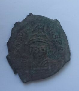 ANCIENT BYZANTINE BRONZE COIN JUSTINIAN THE GREAT /527-565 AD/