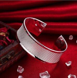 Bracelet-Femme-Manchette-en-Plaque-Argent-Mat-et-Brillant-Bijoux-des-Lys