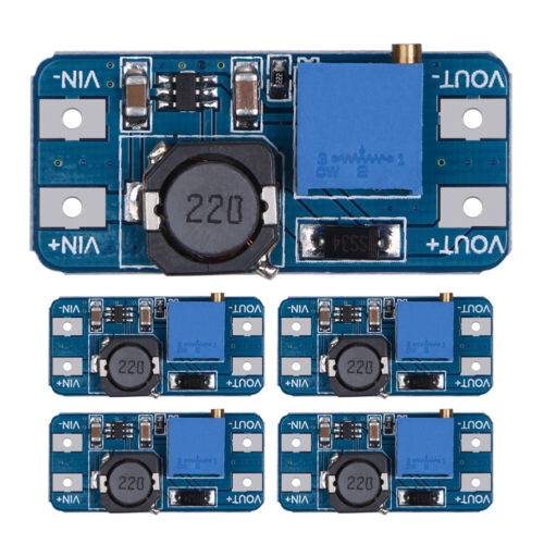 5Pcs MT3608 2A DC-DC Step Up Power Apply Booster Power Module for Arduino