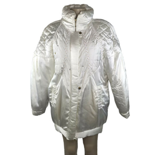 1980s Puffer Coat Size Large Vintage White Star Rh
