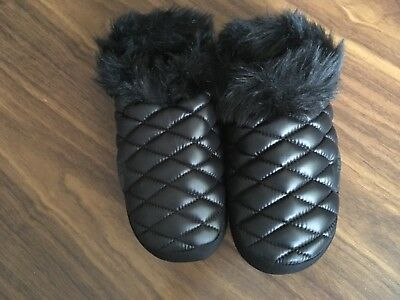 New The North Face Women's Girls Thermoball Tent Mule Slippers Black Fur Xs 3-5 Possessing Chinese Flavors Women's Shoes Slippers