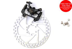 Artek Bike Mechanical Cable Disc Brake Caliper /& Rotor Set 160mm Inc Bolts