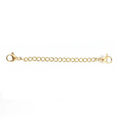 10 Stainless Steel Lobster Clasps Gold Tone 12mm x 7mm FD379