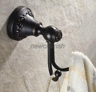 Antique Brass Wall Mounted Bathroom Towel Holder Coat Hanger Robe Hooks nba146