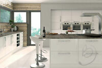 REPLACEMENT HIGH GLOSS WHITE KITCHEN UNIT DOORS AND DRAWER FRONTS