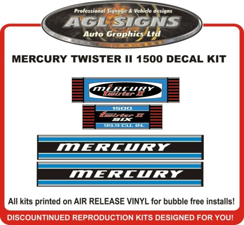 1972  1973 MERCURY  TWISTER II  1500  Reproduction Outboard Decals 150 HP