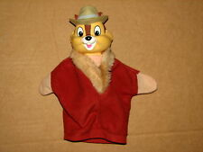 """Disney Chip and Dale Rescue Ranger Dale Hand Puppet Vinyl Head Cloth Body 9.5"""""""