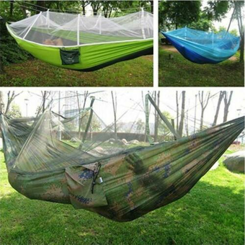 Portable Nylon Hammock Hanging Mesh Sleeping Bed Swing Garden Camping LC