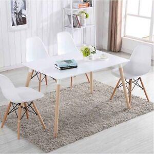 4er set stuhl deko design wohnzimmerstuhl esszimmerstuhl wei e st hle freizeit ebay. Black Bedroom Furniture Sets. Home Design Ideas