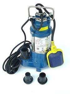 CHM GmbH Tauchpumpe 400 Watt Flachsaugpumpe mit integrierten Schwimmerschalter