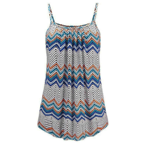 Womens Ladies Boho Cami Vest Swing Camisole Sleeveless Tank Tops Dress Plus Size
