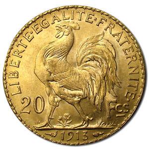 20 Francs France Gold Coin Rooster
