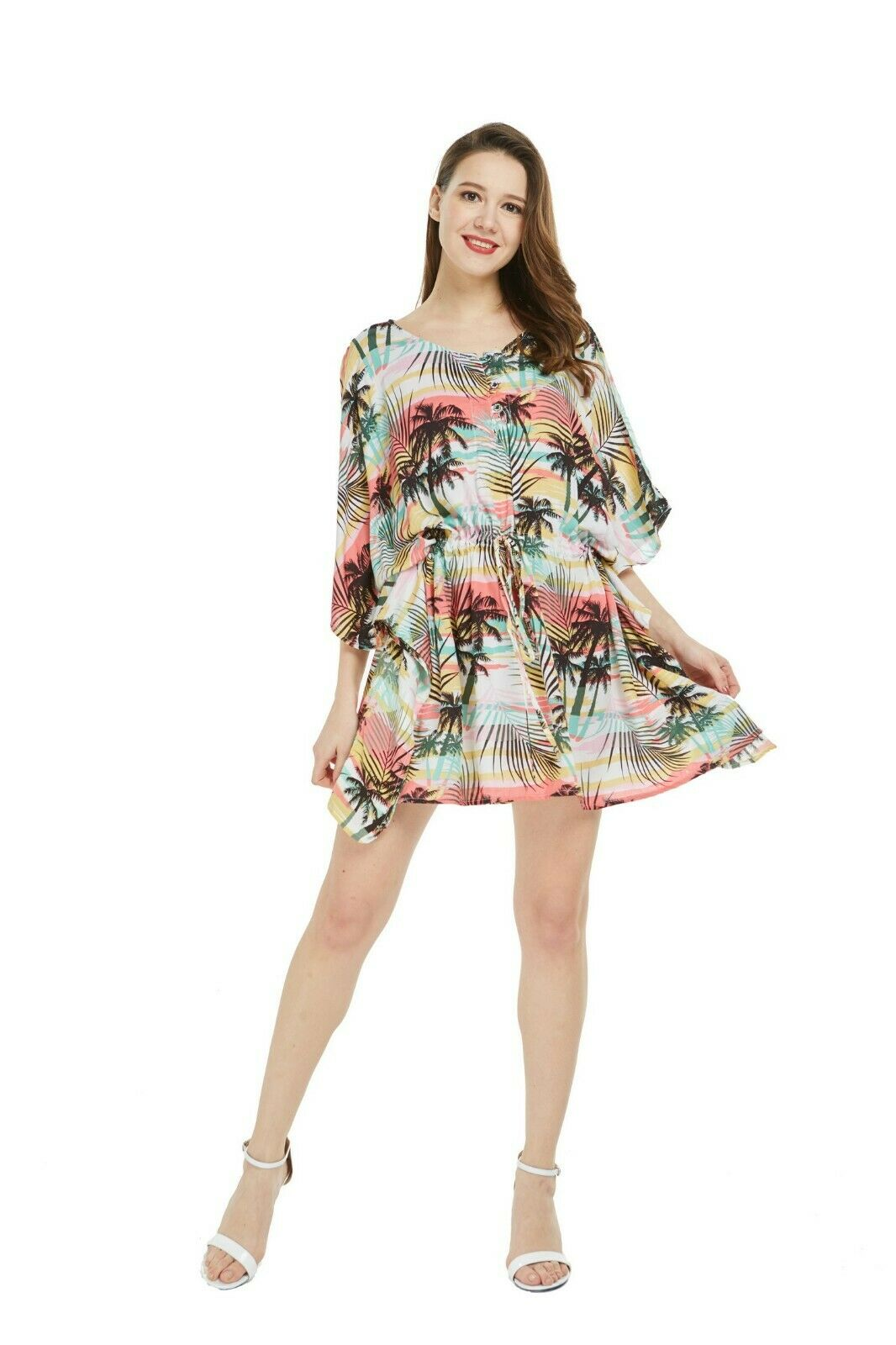 0b51eba48dce Hawaii Hangover Women Poncho Dress Luau Cruise One Size in Sunset ...