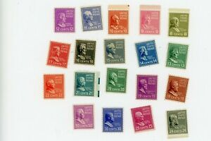1938-Regular-Issue-Scott-Catalog-813-831-MNH
