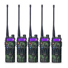 5 PCS BaoFeng UV-5R Dual UHF/VHF Radio Transceiver + 3800mah Battery Ru Stock