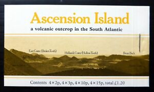 Ascension Island 1981 Volcanic £1.20 Booklet Sb3a Cat £10 Nf438 High Resilience Stamps