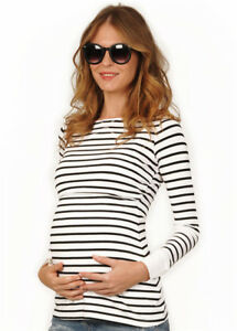 84747fd5406 Image is loading Women-039-s-Long-Sleeve-Maternity-Layered-Nursing-