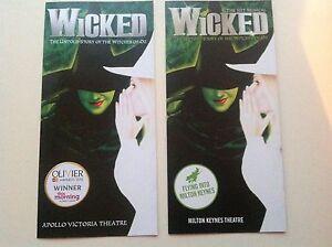 2 x different Flyer WICKED Apollo Victoria Theatre - Welwyn, United Kingdom - 2 x different Flyer WICKED Apollo Victoria Theatre - Welwyn, United Kingdom