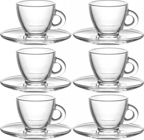 200ml mit Untertasse Roma Teetasse Kaffeetasse 12tlg Set Tassen ca