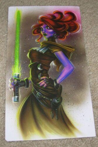 JOE CAPOBIANCO Art Print 6 X11 GINGA JEDI Poster tattoo artist star wars