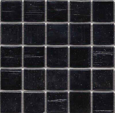 Black Gl Mosaic Tiles 20mm