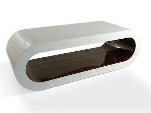 Bespoke Designer Wooden Coffee Table Walnut White Modern