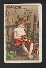 IMAGE CHROMO COSMETIQUE de COIFFEUR / ENFANT / COLORANTS pour CHEVEUX & BARBE