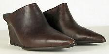 Free People Galacttica Mule Dark Grey Size 37 US 6.5/7 leather wedges $178 NWB