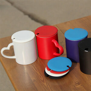 478bd7a4f3c Details about Silicone Leakproof Coffee Mug Suction Lid Cap Airtight Seal  Cup Cover Sealed