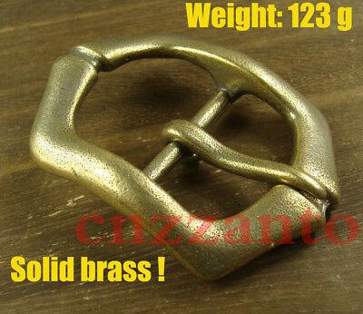 "Heavy duty Solid Brass Classical Tongue Pin Hippie Belt Buckle 1 1//2/"" Z255"