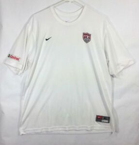 sports shoes 22cdf e0dfb Details about Nike Team USA US MENS XL Soccer Shirt Jersey Castrol