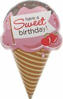 Sweet Birthday Ice Cream Cone Helium Foil Balloon - 37 Northstar Party