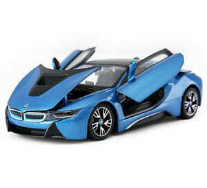 Rastar 1 24 Bmw I8 Concept Car Diecast Model New In Box Blue Ebay