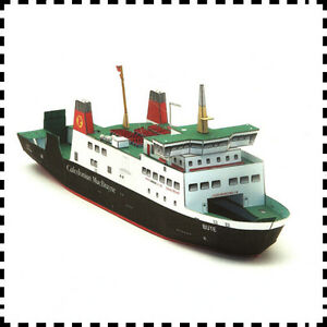 Details about 1:250 Scale Caledonian MacBrayne MV Bute Ferry DIY Handcraft  Paper Model Kit