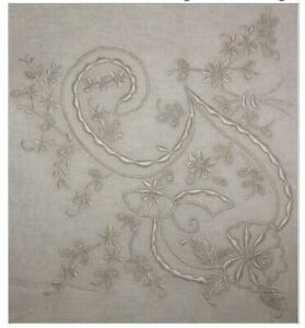 Monogrammed-Vintage-G-Initial-Madeira-Handkerchief-for-Brides-Fabulous-White