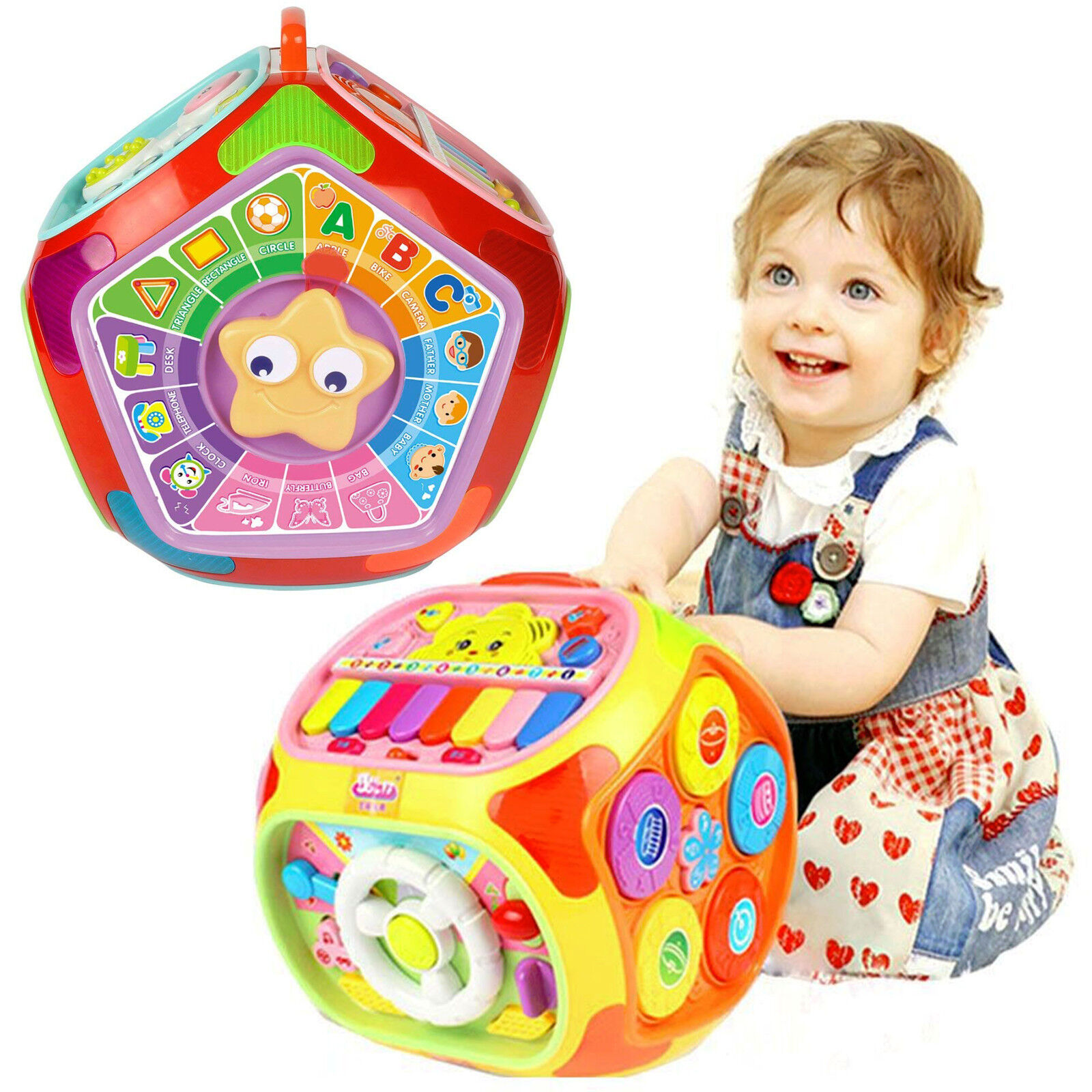 Baby Toddler Multifunctional Learning House Activity Play Cube Center Music Toy