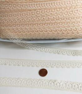 Vintage-3-4-034-wide-Lace-10-yards-Natural-Lot-25-Soft-Airy-Beige-Cream