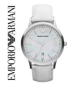 1f36bdaa44cf La imagen se está cargando Emporio-Armani-Ar2465-Mujer-Blanco-Reloj-de- Pulsera-