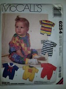 Romper-One-Piece-Bodysuit-Sewing-Pattern-Infants-Size-S-M-L-XL-McCalls-UC-FF