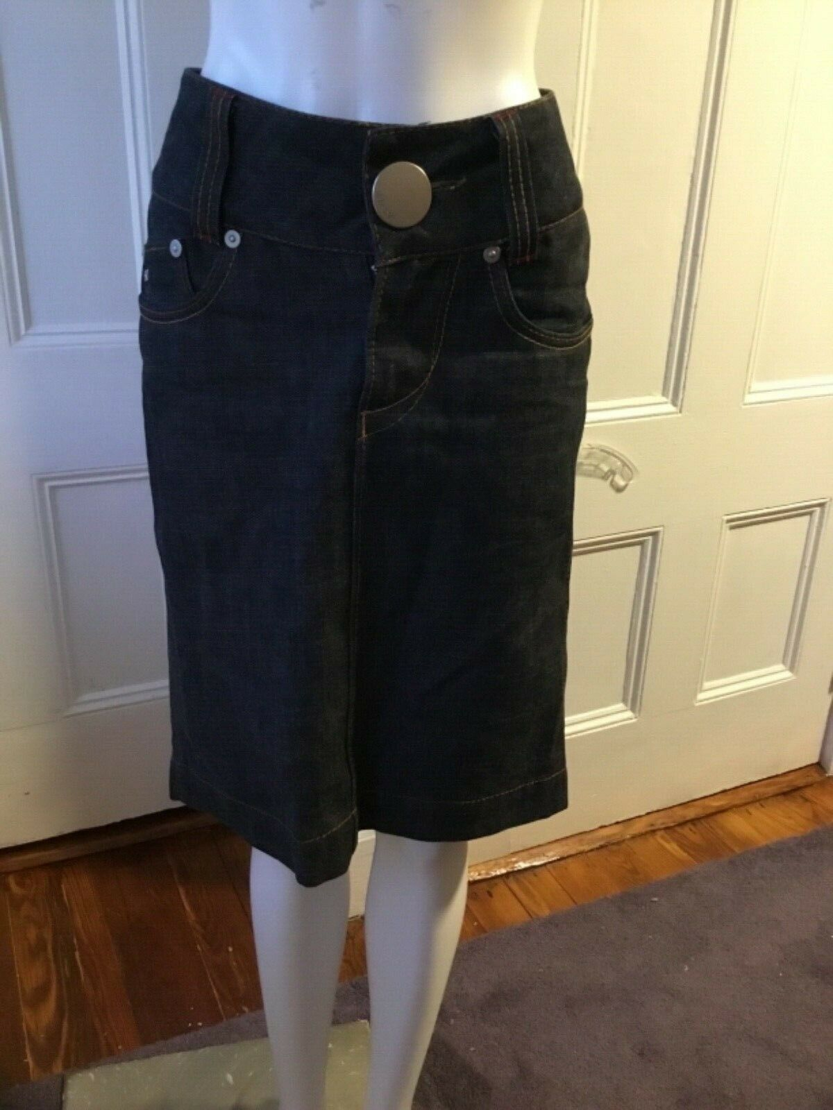 Miss Sixty SKIRT Denim Pencil Skirt SIZE S 100% Cotton