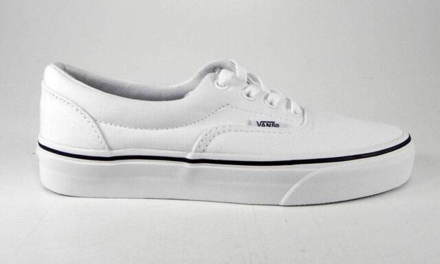 VANS Era Vn000ewzw00 White Canvas Skate Casual Shoes Medium (d M) Men  Whites 10