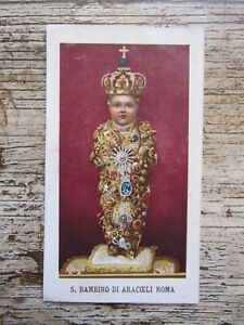 IMAGE-PIEUSE-ANCIENNE-Priere-au-Santo-Bambino-de-l-039-Aracoeli-1900