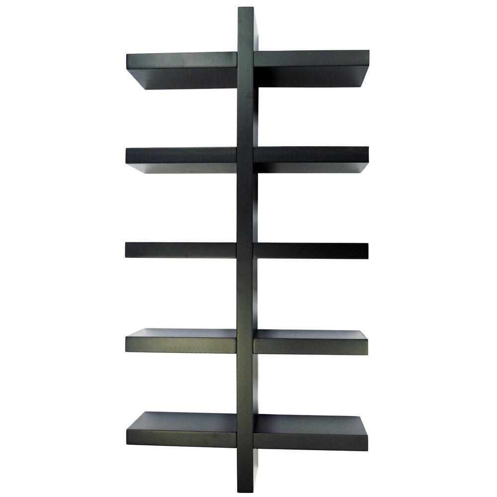 ESSA Da Parete 5 Ripiani Magazzinaggio Mensola Per Esposizione Esposizione Esposizione Nera STWSV231301 f46cc2