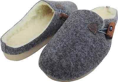Leichte, WARME Clog - Hausschuhe - Pantolette, GR.38 *Wollfilz+Schurwolle* (418)