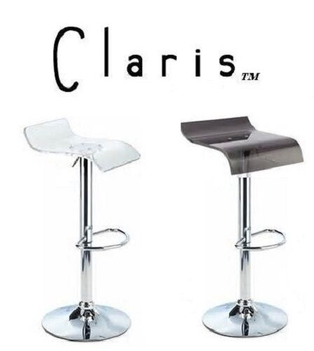 Claris Contemporary Single Adjustable Height Swivel Bar Stool - Set of 2