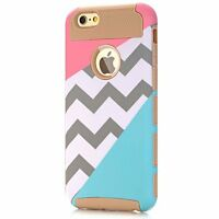 Chevron Heavy Duty Multi Color Phone Case Holder Accessories For Iphone 6 6s